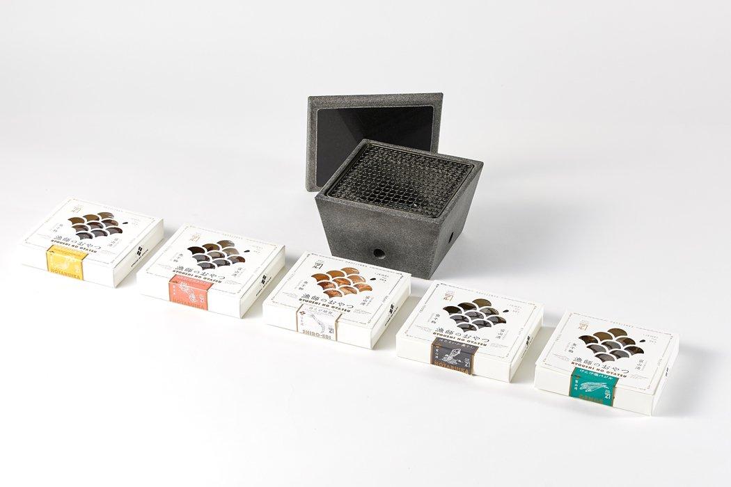 【メーカー直送商品】石乃炙り鉢  / Mサイズ  漁師のおやつセット