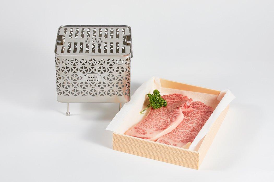 【夏の特別企画】 STEN FLAME(ステンフレーム)焚き火台&肉のマルヨ・ステーキ ー受注販売ー