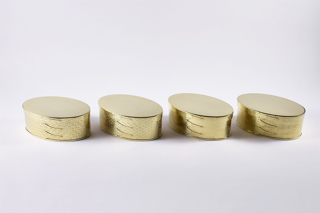 【受注生産/納期約3週間】錺之-KAZARINO-Oval Box(真鍮)