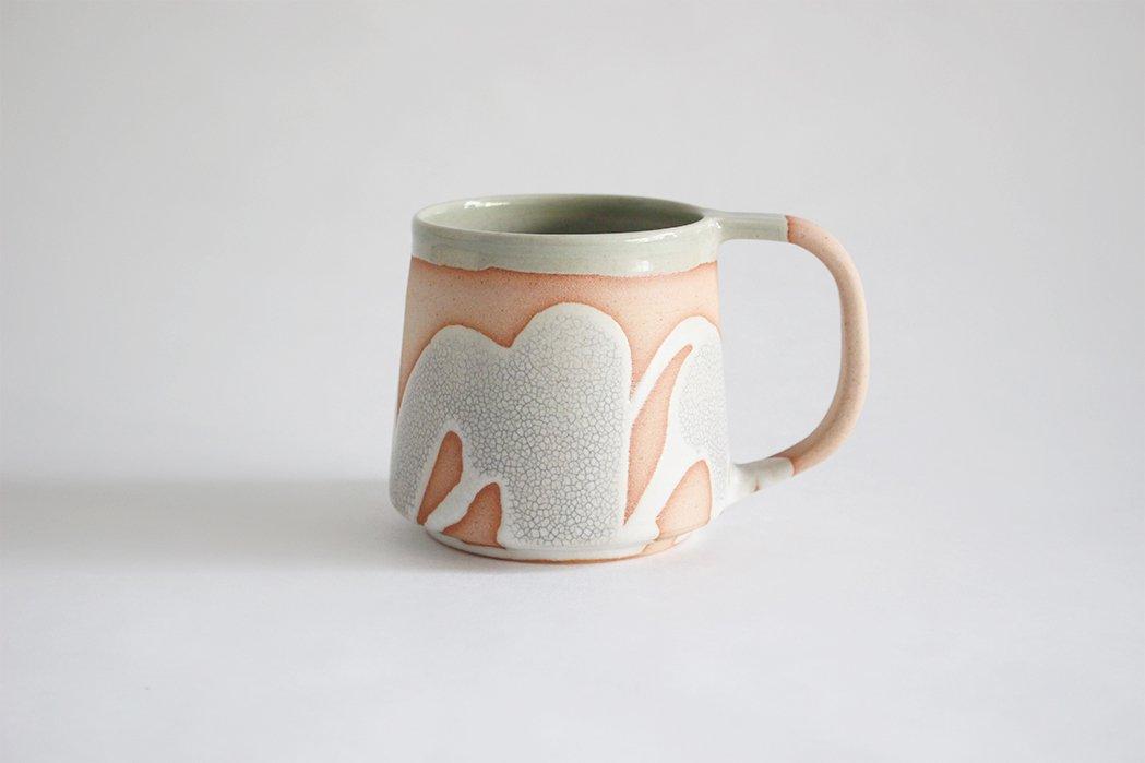 陶徳窯/ マグカップ(掛分け)