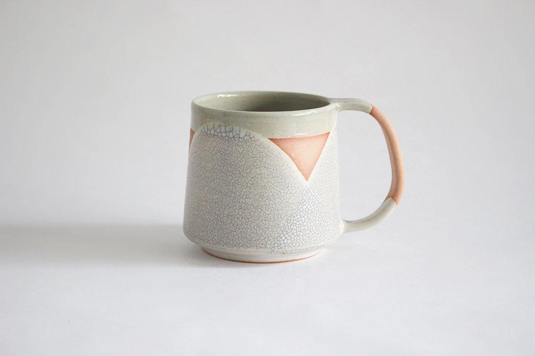 陶徳窯/ マグカップ(貫入)