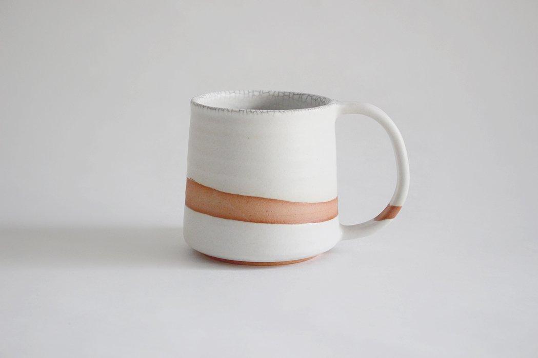 陶徳窯/ マグカップ(白)