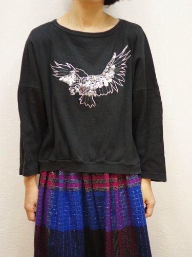 スパンコールの鳥のスウェットシャツ