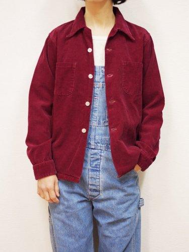 コーデュロイのオープンカラーシャツジャケット