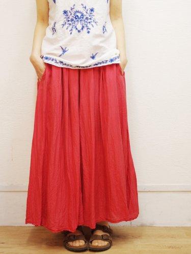 シルク素材のキュロットスカート