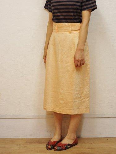 ピーチオレンジのワイドベルトスカート