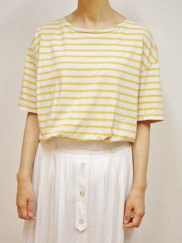 イエローとホワイトのユーロボーダーTシャツ