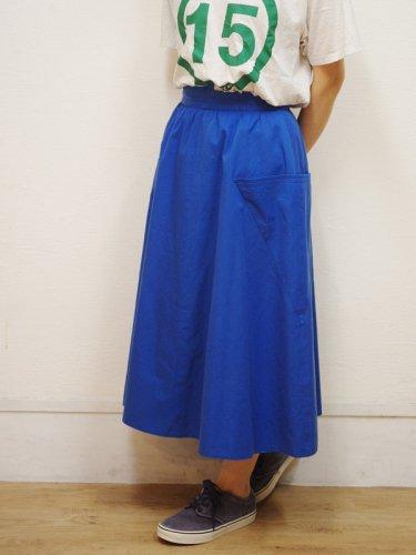ヨーロッパ古着の稲妻風ブルーのスカート