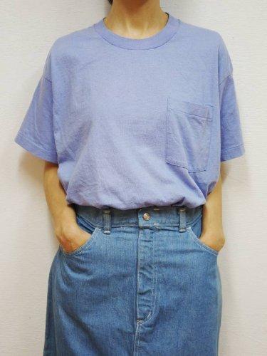 ラベンダーのプレーンポケットTシャツ