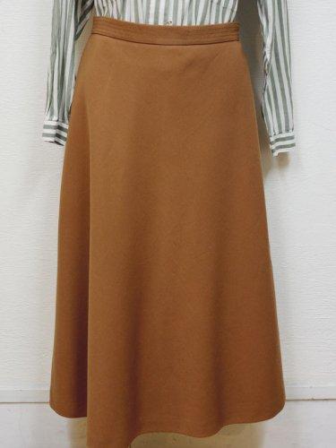 ヨーロッパ古着のキャメルの大人スカート