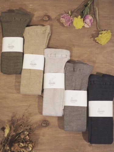 【再入荷+新色登場】リサイクルコットンリブレギンス/SOUKI socks