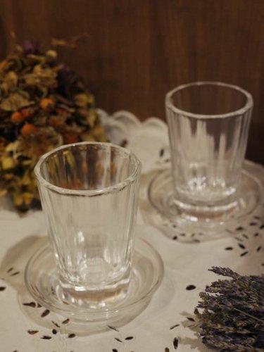 飲み屋の厚口グラスと酒受皿(単品可)