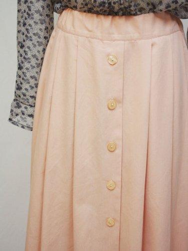 ピーチピンクのプレーンマキシスカート