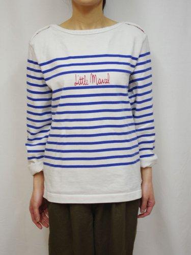 Little MarcelマリンボーダーのTシャツ