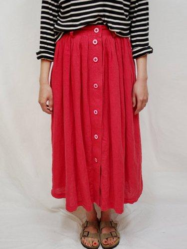 コットンリネンの真っ赤なスカート