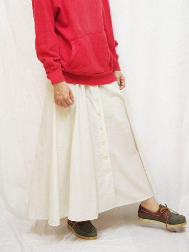 レディス ヨーロッパ古着 ロングスカート  ボタンデザイン L