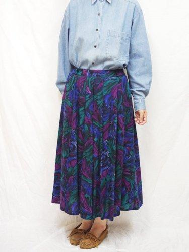 ヨーロッパ古着 レディース スカート  柄 ウール  L