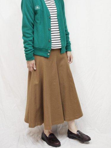 ヨーロッパ古着 レディース スカート  キャメル ウール  S~M