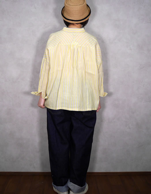ichi Antiquite's, イチアンティークス, 500115, Linen Stripe Shirt