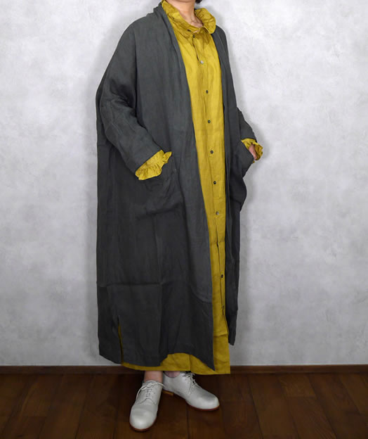 ichi Antiquite's, イチアンティークス, 500307, Linen Viyella Long Cardigan