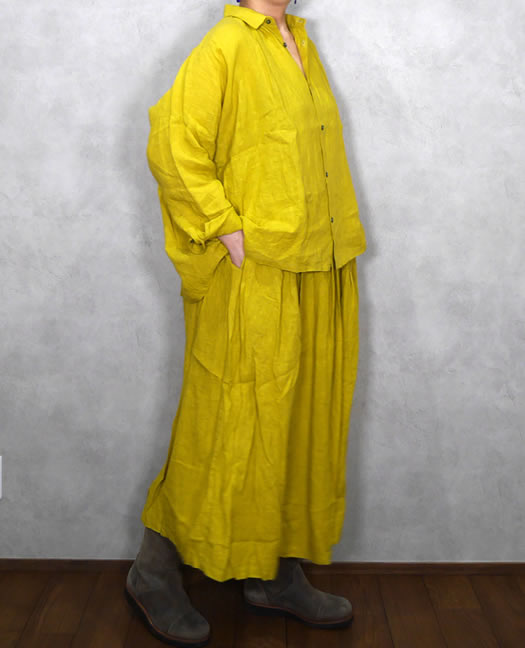 ichi Antiquite's, イチアンティークス, 500603, Color Linen Skirt