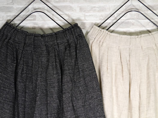 ichi Antiquite's, イチアンティークス, 500636, Linen Wool Wide Pants