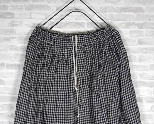 ichi Antiquite's, イチアンティークス, 500912, Cotton Linen Boil Washer Gingham Skirt