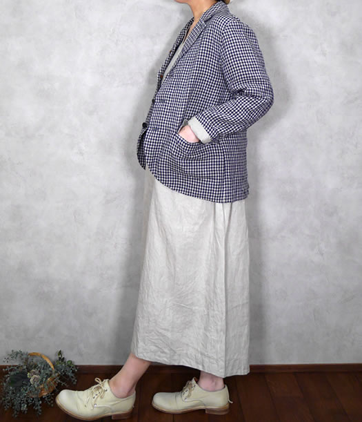 ichi Antiquite's, イチアンティークス, 600326, Linen Dungaree Jacket
