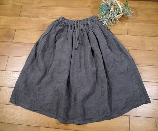 ichi Antiquite's, イチアンティークス, 600624, Dyed Linen Skirt