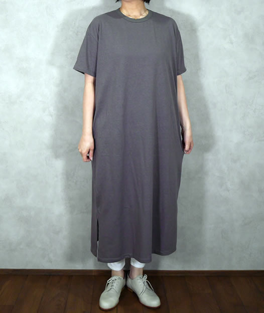 GNSL19032, soil, ソイル,ユーズド天竺Crew-Neck Jersey Dress