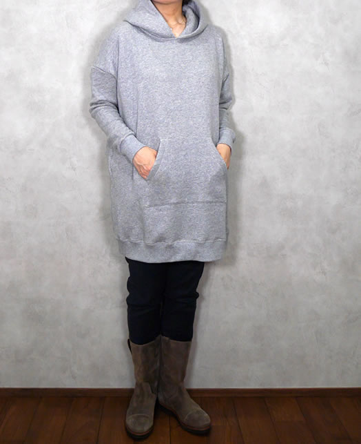 soil, ソイル,GNSL19531, Plain Seat Hooded Pullover