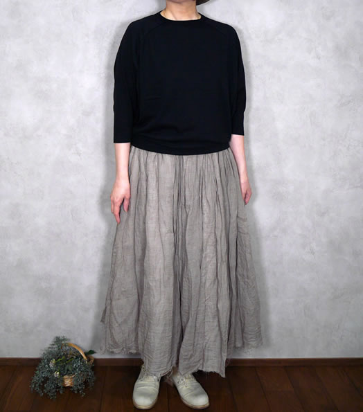 soil, ソイル,ユーズド天竺Dolman Sleeve Crew Neck Pull-Over ,GNSL21021