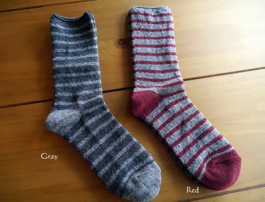 Homie, ホーミー, H-023, Wool Mix Border Socks