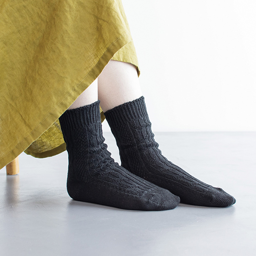 Homie, ホーミー, H-026,Linen Cable Socks