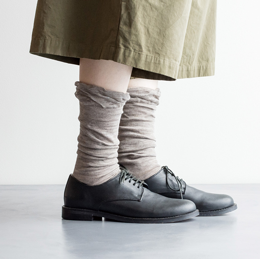 Homie, ホーミー, H-033, Frill Ramie High Socks