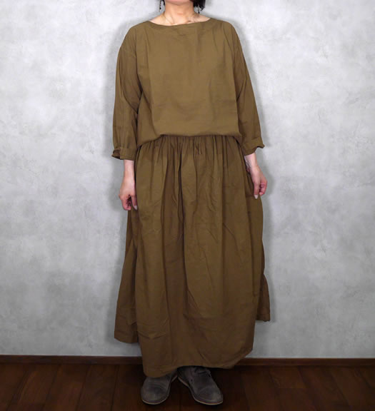 ARMEN, アーメン, INAM1861PD, Cotton 40's Poplin Boat Neck Smock
