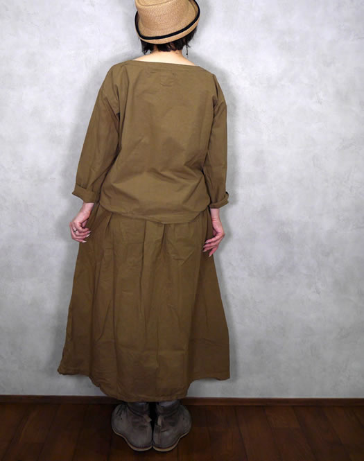 ARMEN, アーメン, INAM1952PD, Cotton 40's Easy Gathered Skirt