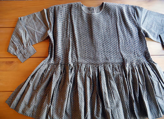 maison de soil, メゾンドソイル, INMDS17831, Voile Small Flower Print PO with Pin Tuck