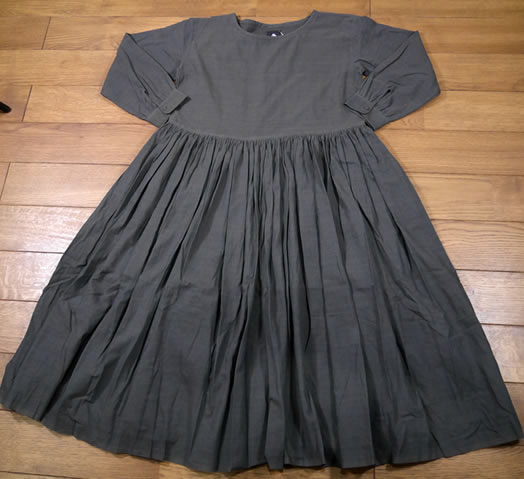 maison de soil, メゾンドソイル,INMDS19712, Hand Woven Mini Stripe Rajasthan Gathered Dress with Lining