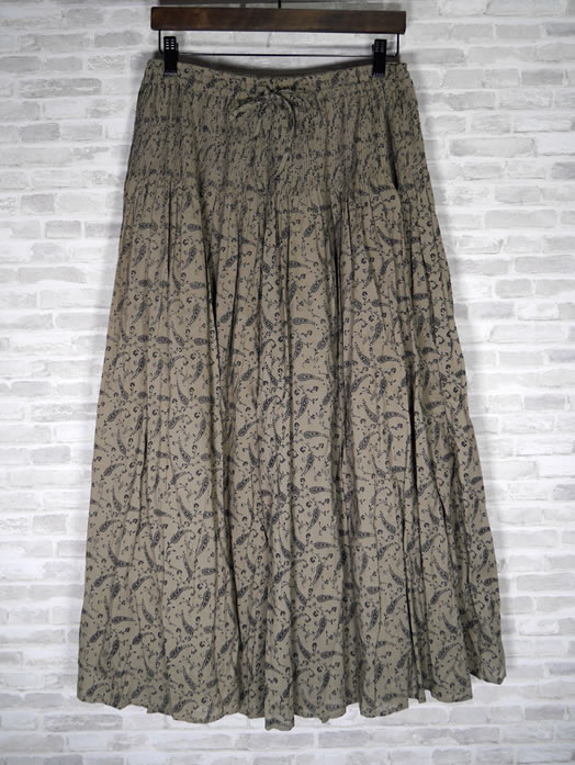 maison de soil, メゾンドソイル,INMDS19734, 80's Voile  Paisley Print Culottes with Mini Pintuck