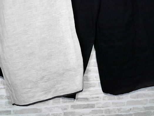maison de soil, メゾンドソイル,80's Handwoven Linen Plain With Selvage Easy Pants,INMDS21005