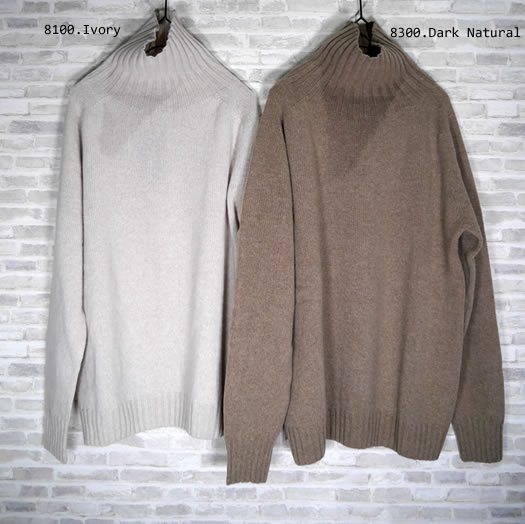 ARMEN, アーメン, JNAMP1651, Polo Neck Saddle Shoulder Pull-Over