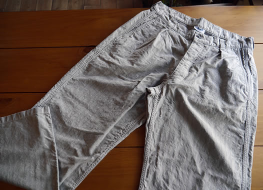 ARMEN, アーメン, NAM1203HR, Cotton Herringbone One-Tuck Pants