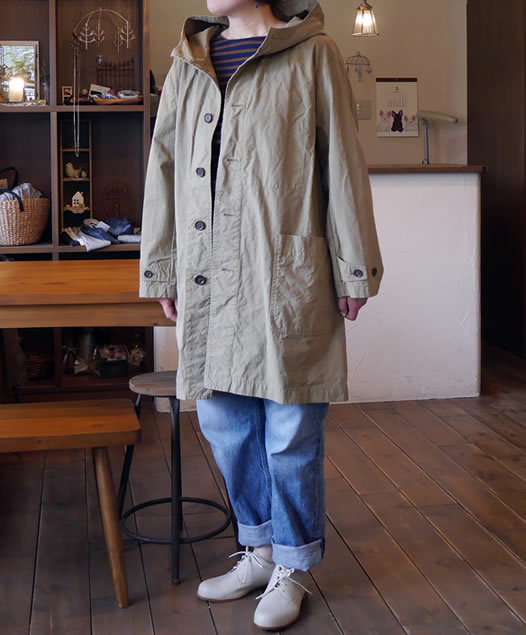 NAM1602CP, ARMEN, アーメン, Authentic Hooded Coat