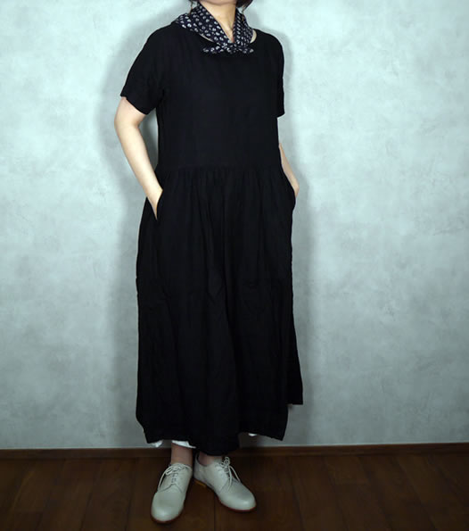 ARMEN, アーメン, NAM1632LP, Linen Boat Neck One Piece