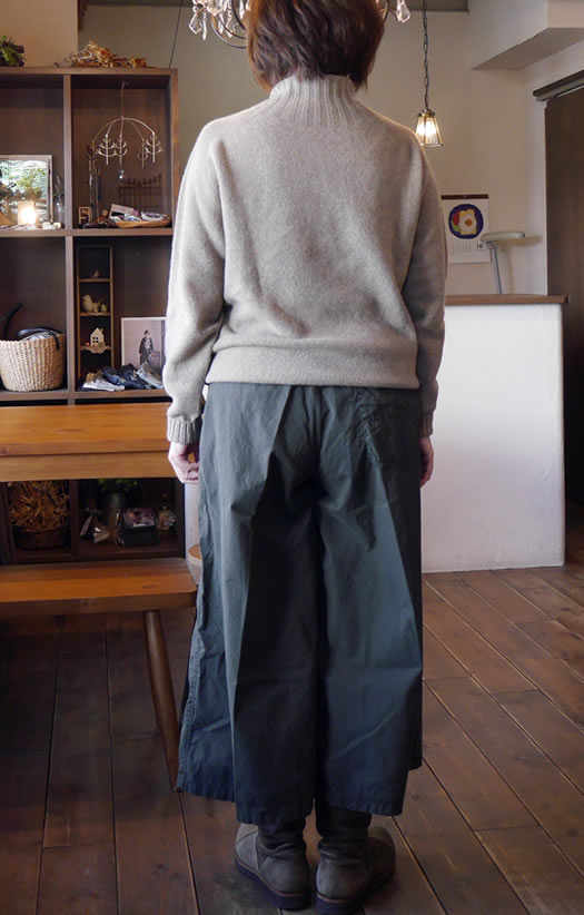 ARMEN, アーメン, NAM1791B, Cotton Twill Overdye Wrap Pants