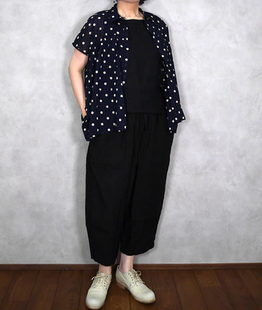 ARMEN, アーメン, NAM2001LP, Linen Boat Neck No Sleeve Pull-Over