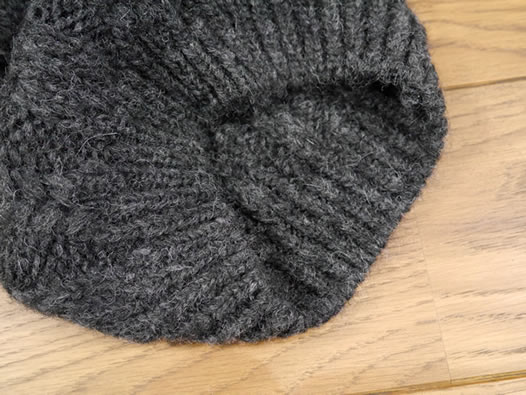 Calimar, NCL1961, Cable Beanie with Fox Fur, ニットキャップ