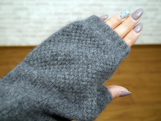 Gren Gorden, グレンゴードン, NGG0854, Geel Ongora Fingerless Mitton, ミトン
