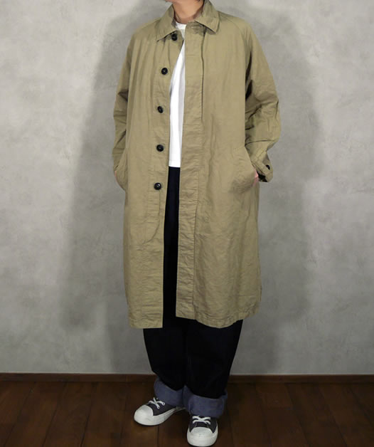Harrow Town Stores, NHT1711CL, Cotton Linen Balmacaan Coat